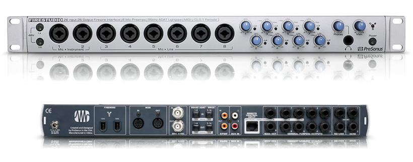 presonus firestudio 2626 vs m audio profire 2626 concentric audio. Black Bedroom Furniture Sets. Home Design Ideas