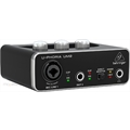 INTERFACE DE AUDIO COM PHANTOM POWER - BEHRINGER U-PHORIA UM2