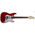 GUITARRA FERNANDES REVOLVER CLASSIC SERIES COM FERNANDES SUSTAINER - MADE IN JAPAN - COM CASE - COR: SEE THRU RED